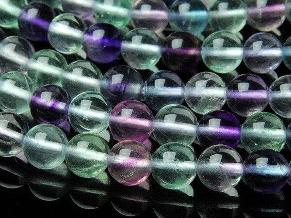【連売り】10mm【フローライト AA】 1連(約38cm) 天然石 パワーストーン ビーズ パーツ [LR37-10] 5,000円以上で送料無料