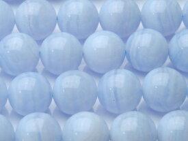 【連売り】Aブルーレースアゲート10mm 1連(約38cm)天然石 パワーストーン ビーズ パーツ _R197