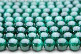 【連売り】マラカイト 10mm 1連(約38cm)天然石 パワーストーン ビーズ パーツ _N1304