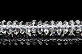【連売り】【水晶ボタンカット】 3x6mm 1連(約38cm)天然石 パワーストーン ビーズ パーツ _R890