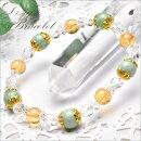 【デザインブレス】高品質ビルマ翡翠&シトリン9mmブレスレット_A5815000円以上送料無料