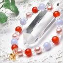 【デザインブレス】高品質カーネリアン&貝パールピンク8mmブレスレット_A5885000円以上送料無料