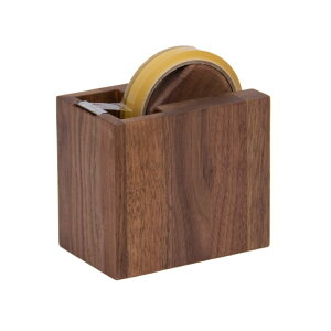 Latree テープカッター しかく ウォルナット 天然木 無垢材 ウォルナット材 セロハンテープ 台 セロハンテープ台 おしゃれ かわいい 持ち運び 木製 木 ナチュラル 北欧 アンティーク 事務用品