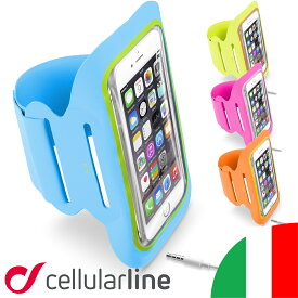ランニング スマホ アームバンド iPhone7ケース iPhone7 アイフォン7 iPhone6s Plus Xperia セルラーライン ARMBANDFIT アイフォンケース ケース ジョギング アイフォン6sプラス アイホン 腕 スマホバンド Cellularline ブランド ランニンググッズ ギャラクシー