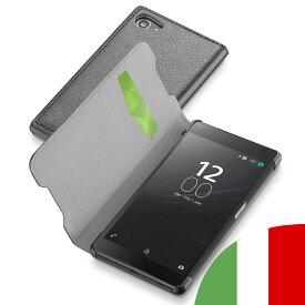 Xperia Z5 Compact Premium Z4 ケース 手帳型 カード 収納 エクスペリア プレミアム コンパクト レザー ブランド セルラーライン Cellularline|スマホ スマホケース スマートフォン 携帯ケース 携帯カバー 革 おしゃれ 手帳型スマホケース オシャレ エクスペディアz3