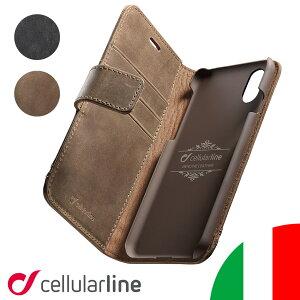 Cellularline iPhoneケース 手帳型 本革 iPhone iPhone12 12 Pro Max mini iPhone12ミニ iPhoneSE SE SE2 iPhone11 ProMax XS X XR XSMax iPhone8 iPhone7 iPhoneカバー ケース カバー アイフォンケース 手帳型ケース SUPREME イタリア