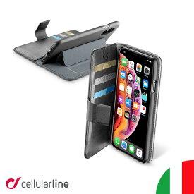Cellularline iPhoneケース 手帳型 iPhone iPhone11 11 Pro Max XS XR XSMax iPhone8 iPhone7 iPhone6s | iPhoneカバー アイフォンケース アイホン 手帳型ケース カバー ケース 薄型 スタンド付き おしゃれ 海外 かっこいい カード収納 icカード ワイヤレス充電対応