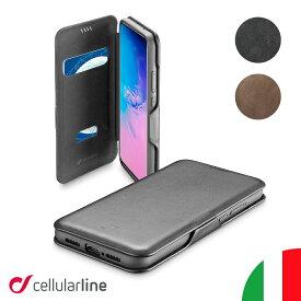 Cellularline Galaxy S20+ S20 Ultra 手帳型ケース ギャラクシー S10+ S10 Plus 手帳型 手帳 ケース カバー イタリア ブランド 薄型 おしゃれ シンプル メンズ かっこいい 海外 かっこいい カード収納 カード icカード BookClutch