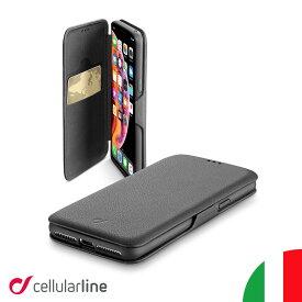 Cellularline iPhoneケース 手帳型 iPhone11 11 Pro Max XR XSMax | アイフォン11 アイホン11 アイフォーン11 iPhoneカバー アイフォンケース アイホン 手帳型ケース カバー ケース 薄型 おしゃれ 海外 かっこいい カード収納 icカード シンプル メンズ