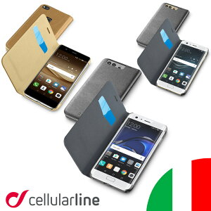 Huawei P10 Lite Plus ケース 手帳型 手帳 手帳型ケース ファーウェイ ビジネス イタリア セルラーライン Cellularline?送料無料 ハーウェイ 携帯カバー カバー レザー おしゃれ スマホケース スマー