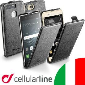Huawei ファーウェイ ケース P9 Lite カバー 縦開き Cellularline セルラーライン Flap Essential|携帯ケース スマホ スマホケース スマホカバー スマートフォン スマートフォンケース 携帯カバー スマートホン レザー レザーケース ブランド マグネット 革 ライト 革ケース