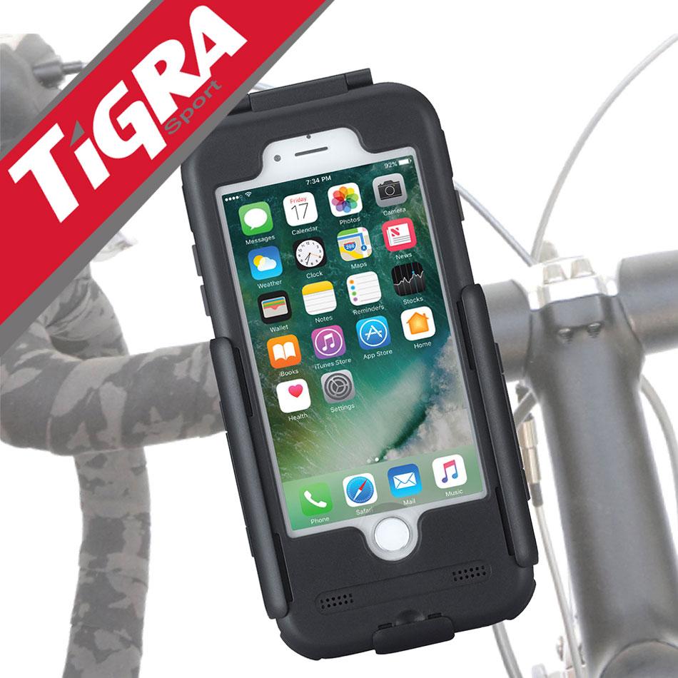 TiGRA Sport iPhone8 iPhone iPhone7 Plus スマートフォン ホルダー バイク スマホ スマートフォンホルダー 耐衝撃 6s SE 5S Galaxy S7 edge アイフォン スマホホルダー 携帯ホルダー ロードバイク ケース アイフォン8 バイク用 防水ケース 自転車ホルダー バイクホルダー