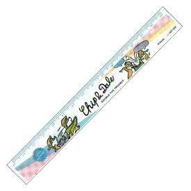 ディズニー チップ&デール グッズ 15cm定規 ホワイト ハニー&ナッツ【ラッピング不可】