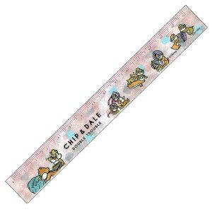 ディズニー チップ&デール グッズ 15cm定規 ピンク ハニー&ナッツ