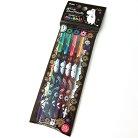 ムーミングッズハイブリッドデュアルメタリック・ラメ顔料インキボールペン4色セットHybridDualMetallic