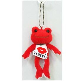 ピクルス×KISS, TOKYOグッズ マスコット ボールチェーン付き レッド KISS, TOKYO×pickles the frog 142160