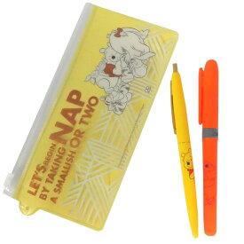 ディズニー くまのプーさん グッズ ペンセット ボールペン&蛍光ペン イエロー 第4弾