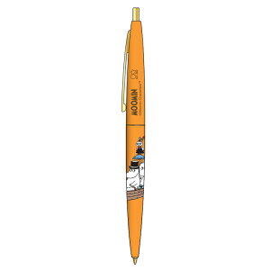 ムーミン グッズ クリックゴールド0.5mmボールペン オレンジ