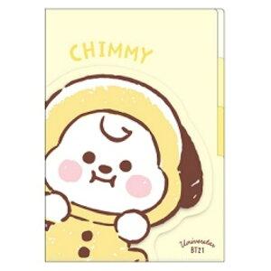BT21 グッズ ダイカットポケット3インデックスクリアファイル CHIMMY LINE FRIENDS 015128
