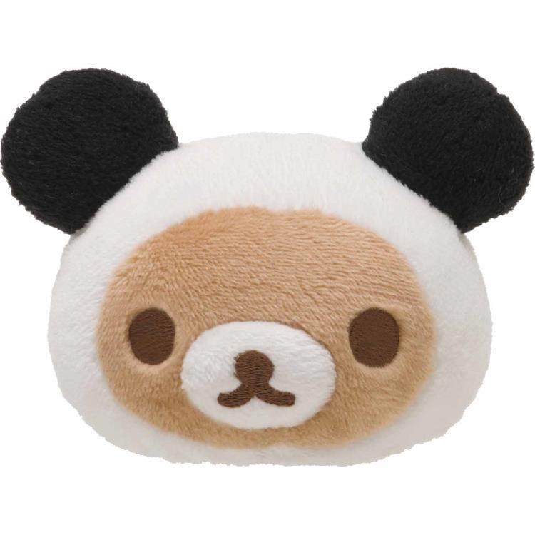 リラックマ●もちぺったんてのりぬいぐるみ(リラックマ/パンダ)★パンダでごろん★