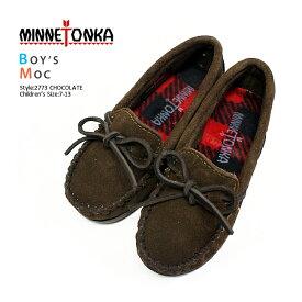 ■MINNETONKA【ミネトンカ】BOY'S MOC for children's【kids/キッズ用ボーイズモック】モカシン/2773/MINETONKA/ブラウン/キッズ/靴 バーゲン