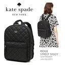 【KATE SPADE】ケイトスペード #PXRU6869RIDGE STREET SIGGY/BLACK(001)/リュック/バックパック/黒/ナイロン/レデ...