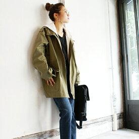 【LUY SIORA】ルイシオラ #DV 003918 ビッグマウンテンパーカー レディース アウター ジャケット コート マウンパ カーキ ベージュ 韓国ファッション オルチャン カジュアル 春夏