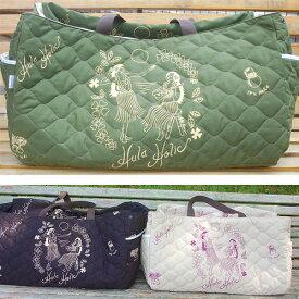 ◆布でサッと目隠し!フラダンス大きなバッグ◆ビッグホイケバッグ(フラホリック柄)発表会・イベント・マザーズバッグにも