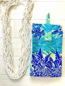 シェルレイケース(シェルネックレスケース)◆ハワイアン柄5 フラダンス貝製ネックレスのケース