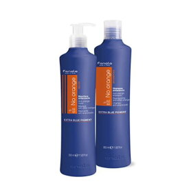 ファノラ(Fanola)オレンジ赤みが消える ブルーシャンプー&ヘアマスクSET 350ml 青色シャンプーとマスクできれいな外国人髪
