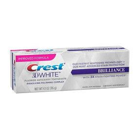クレスト 3Dホワイト ブリリアンスミント 116g Crest 3D White Brilliance Mint ホワイトニング歯磨き粉【国際普通郵便】