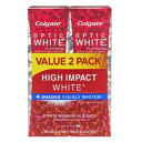 2本セット コルゲート ハイインパクト ホワイトニング歯磨き粉【85g x 2本】Colgate Optic White High Impact Toothp…