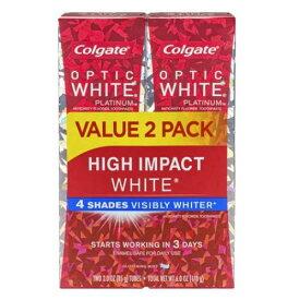 2本セット コルゲート ハイインパクト ホワイトニング歯磨き粉【85g x 2本】Colgate Optic White High Impact Toothpaste