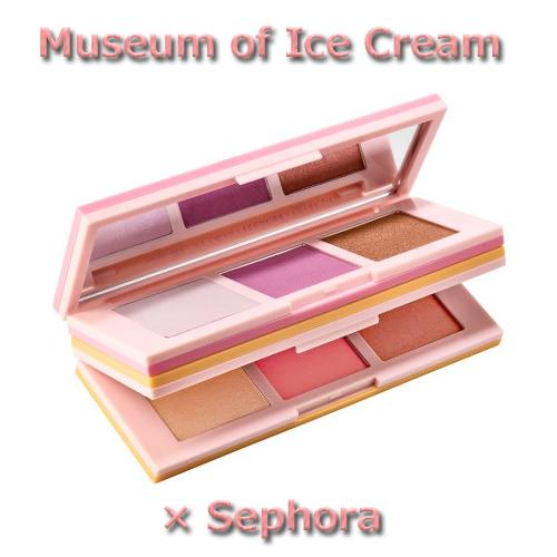 限定コラボ☆アイスクリームミュージアム X セフォラ チーク・ハイライター・ブロンザーパレット Sugar Wafer Face Palette