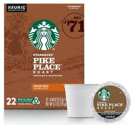 スターバックス パイクプレイス44個(22×2箱) ミディアムロースト キューリグ kカップ K-CUP Starbucks Pike Place