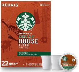 スターバックス Decaf ディカフェ ハウスブレンド44個(22×2箱) ミディアムロースト キューリグ kカップ K-CUP Starbucks Decaf House Blend