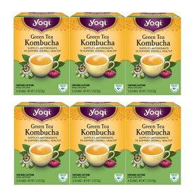 yogi tea コンブチャ 16ティーバッグ×6箱 Kombucha オーガニック緑茶と紅茶キノコ