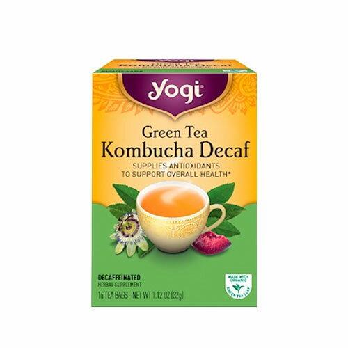 yogi tea コンブチャ ディカフェ 16ティーバッグ Kombucha オーガニック緑茶と紅茶キノコ