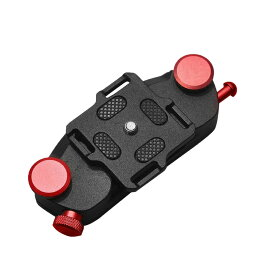 カメラ クイックリリース レッド ホルスター 登山 カメラクリップ カメラ ホルダー カメラキャプチャー QUICKKA-RD