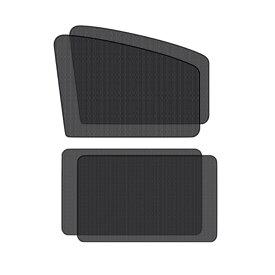 車ドア窓用網戸 前窓とリアドア用4枚セット 磁石付き 貼るだけ簡易 防虫 ネット 虫よけ 遮光 日よけ 4-KUDOMADO-SET