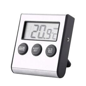 冷蔵庫温度計 デジタル冷蔵庫温度計 冷凍庫温度計 マグネットとスタンダード付き 温度範囲 RIOKKDG