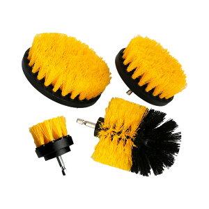 ドリルブラシ スクラブパッド 4点セット パワー スクラバー 掃除 洗車 磨き ドライバー アタッチメント カーペット クリーニング 4-DOBISD