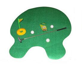 【送料無料】 トイレでゴルフ?! トイレマット ゴルフパター マット ボール ゴルフ インテリア 日用品 雑貨 ◇RZ-TOIGOLF