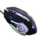 ウォーリア LED搭載 有線 ゲーミング マウス 光学式 静音 4000dpi 5段調節 6ボタン 高速 クリック Windows Vista/10/8…