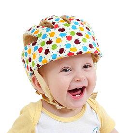 洗エルメット リンゴ柄 洗える スポンジ ヘルメット ベビー 幼児 用 可愛い 綿100% 可愛い お洒落 清潔 帽子 ARAMET-RI