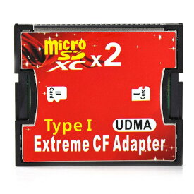 Micro SD 2枚 から CFカード 1枚 変換 TypeI アダプター CFアダプター Compact Flash adapter マイクロダブル MICROW