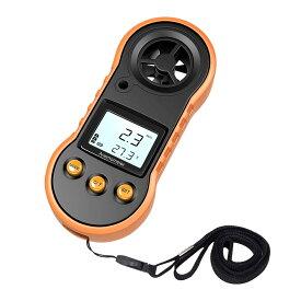 風温計測器 デジタル 風速 温度 同時計測 超小型 屋外使用 ドローン 空調 登山 トーニック 釣り 射撃 FUONKEI
