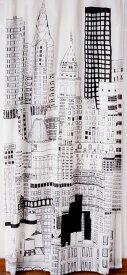 ランドスケープ カーテン 110×180cm ニューヨーク【新生活】 西海岸風 インテリア アメリカン雑貨