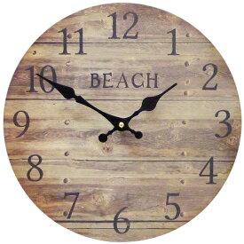 サーフ ウォールクロック 28.5cm (ビーチ BR KS-OLCLWABB)】壁掛け時計 西海岸風 インテリア アメリカン雑貨