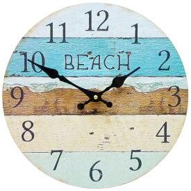 サーフ ウォールクロック 28.5cm (ビーチ カラー KS-OLCLWABC)】壁掛け時計 西海岸風 インテリア アメリカン雑貨